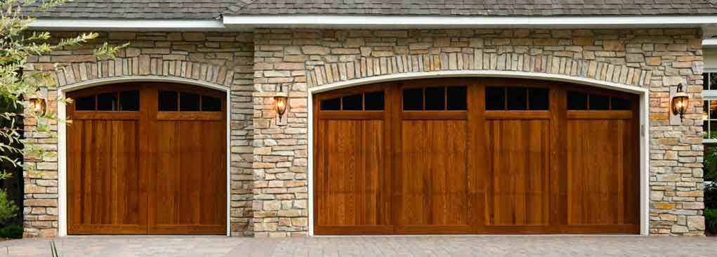 Delightful Beautiful Wooden Garage Door